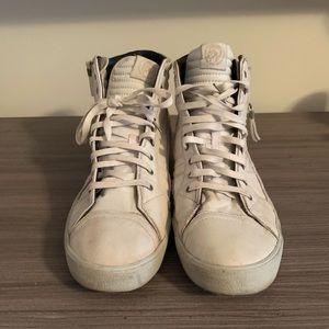 White High Top Diesel Sneakers